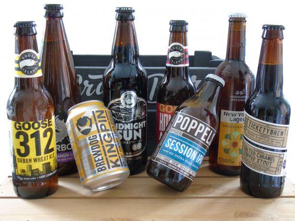 Craft beer mixed beer crate
