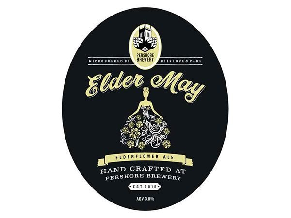 Pershore brewery elder may elderflower ale