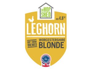 The Hop Shed Leghorn blonde beer