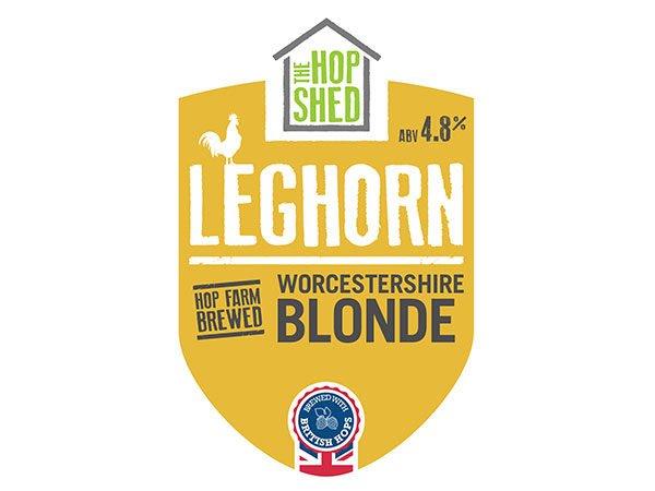 The Hop Shed Leghorn blonde beer