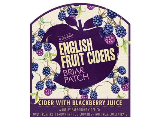 Barbourne Cider Co., Briar Patch cider with blackberry juice bag in box