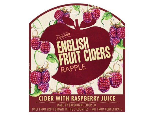 Barbourne Cider Co., Rapple cider with raspberry juice bag in box
