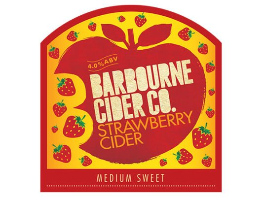 Barbourne Cider Co., Strawberry Cider medium sweet Worcestershire cider bag in box